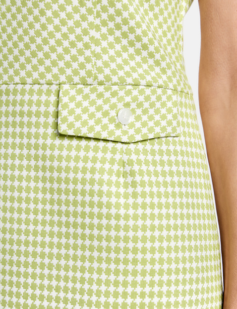 Dress with a fine check pattern