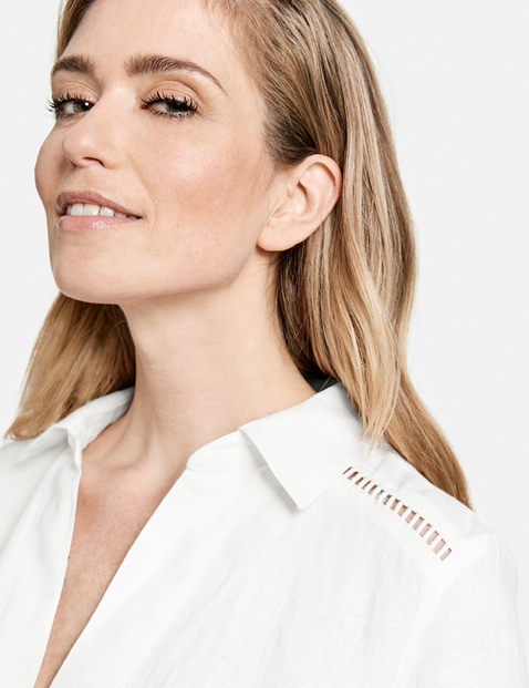 Linen blouse dress