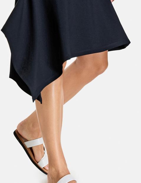 Dress with an asymmetric hem, EcoVero
