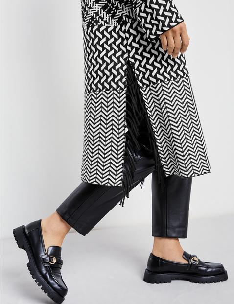 Mixed pattern cardigan, organic cotton