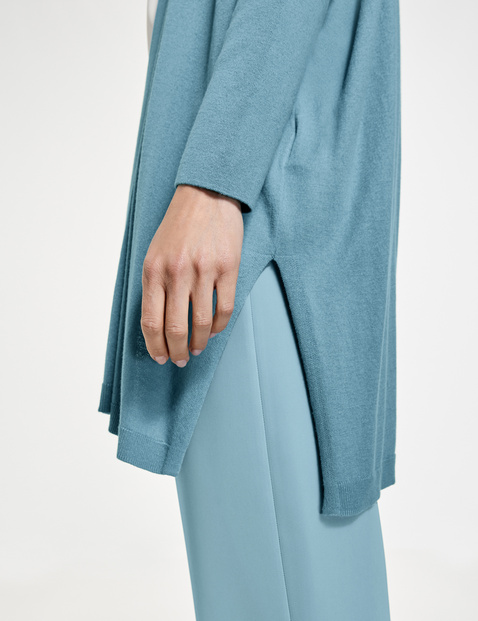 Long jacket with silk