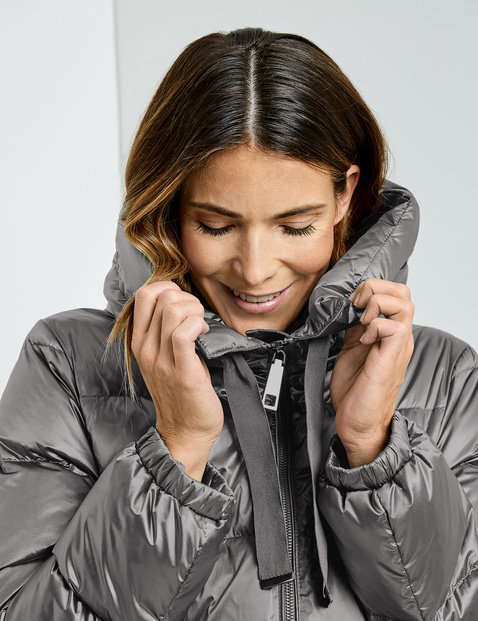 Ultra-soft down quilted coat