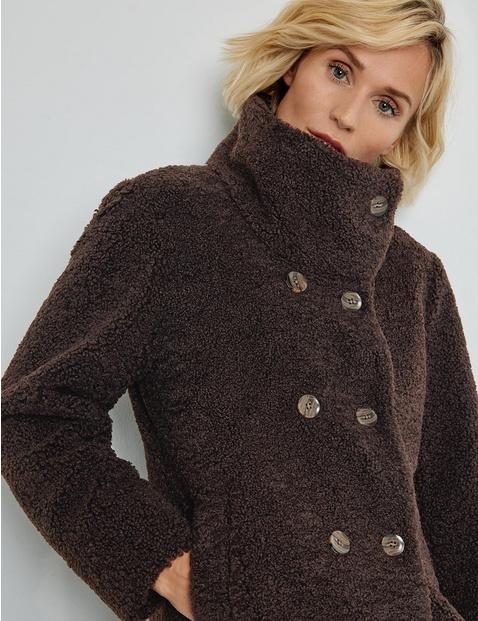 Mantel aus Plüsch