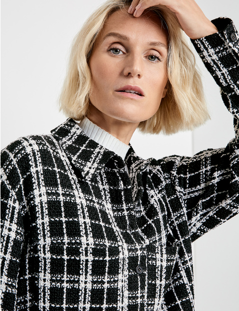 Checked blouse jacket