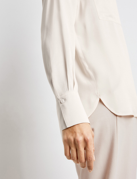 Long sleeve blouse with cupro