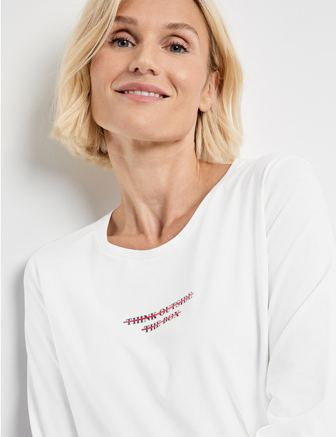 Long sleeve top with lettering