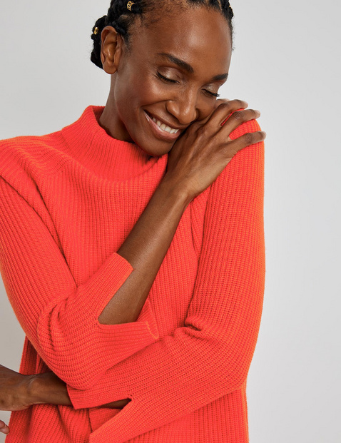 Jumper with wool and cashmere
