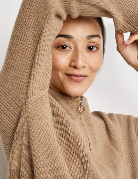Jumper with a funnel neckline