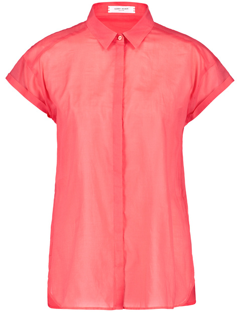 1/2 Arm Bluse in Coral