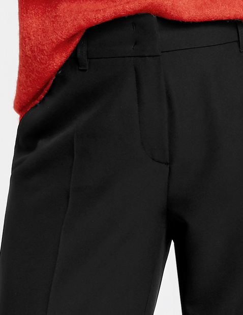 Trousers with a comfortable leg width