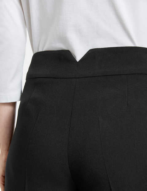 Culottes with a wide waistband