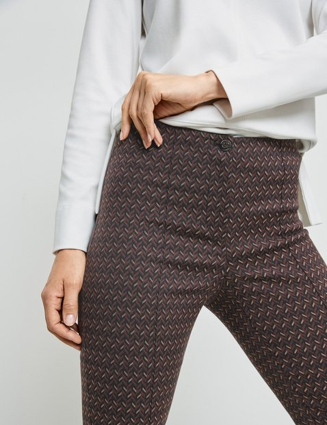 Trousers with a geometric pattern
