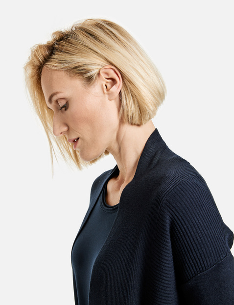 Open rib knit jacket