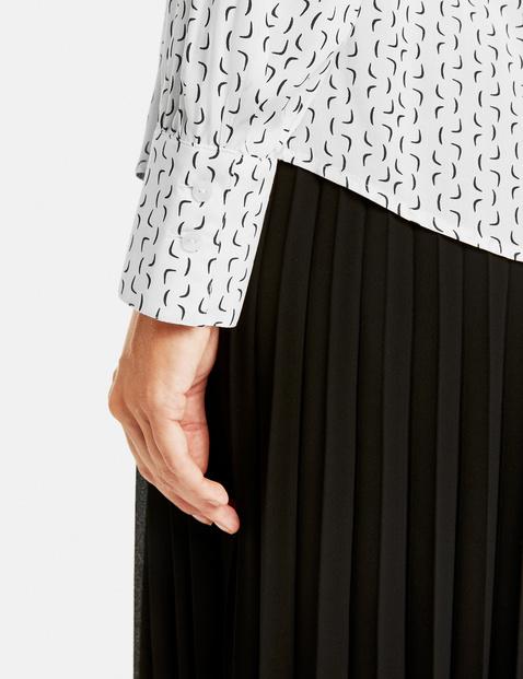 Bluse mit grafischem Print