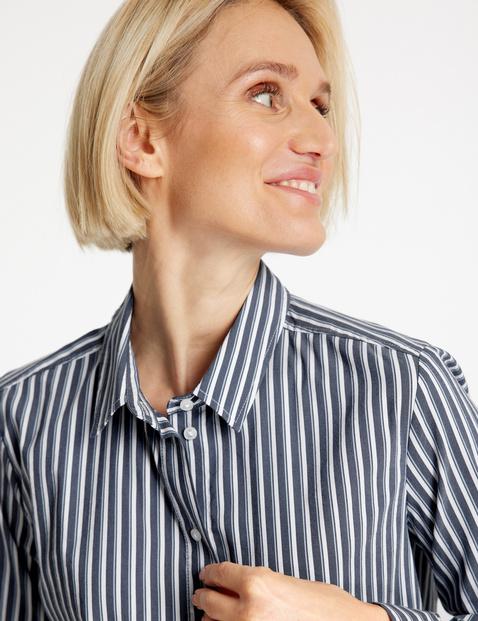 Bluzka z długim rękawem w pionowe paski