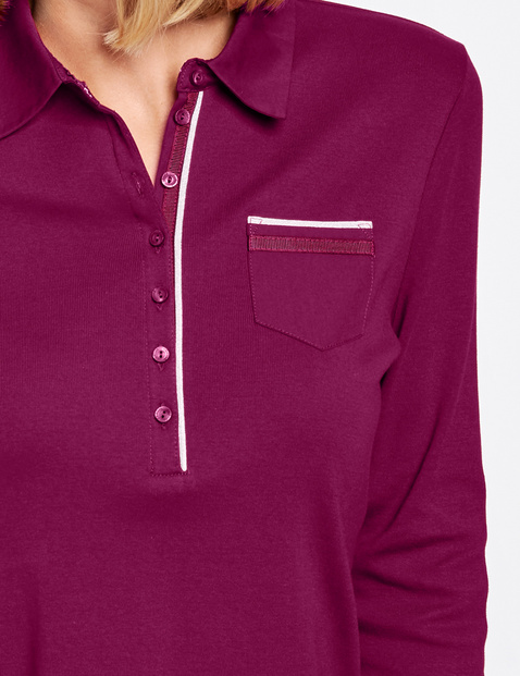 Polo shirt with 3/4-length sleeves