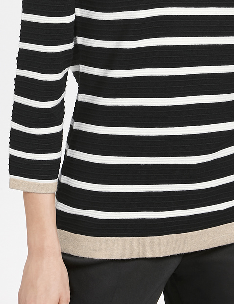 Striped jumper with 3/4-length sleeves