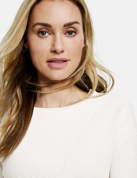 Oversized 3/4-length sleeve top