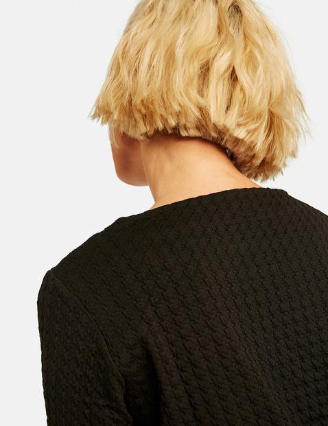 Sweatshirt in jacquard look