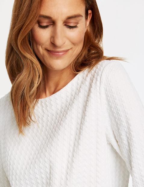 Sweatshirt mit Jacquardoptik