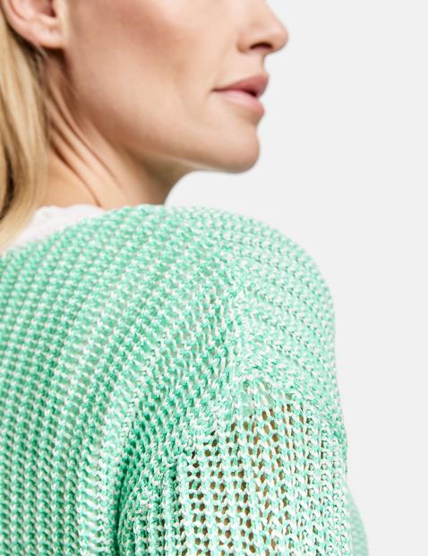 3/4 Arm Pullover mit Bicoloroptik