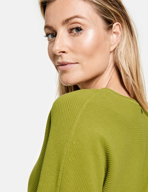 Pullover mit Rippdetails GOTS