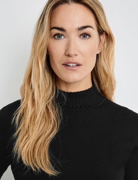 1/2-length sleeve jumper
